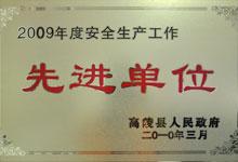 2009年度安全生产先进单位